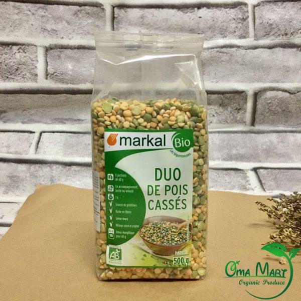 Đậu hà lan xanh vàng hữu cơ Markal