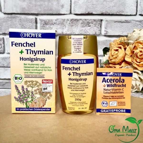 Siro mật ong trị ho hữu cơ Hoyer