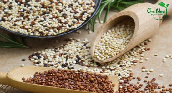 hạt diêm mạch quinoa cho bà bầu