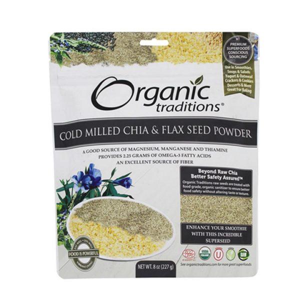 Bột hạt chia và lanh nảy mầm Organic Traditions