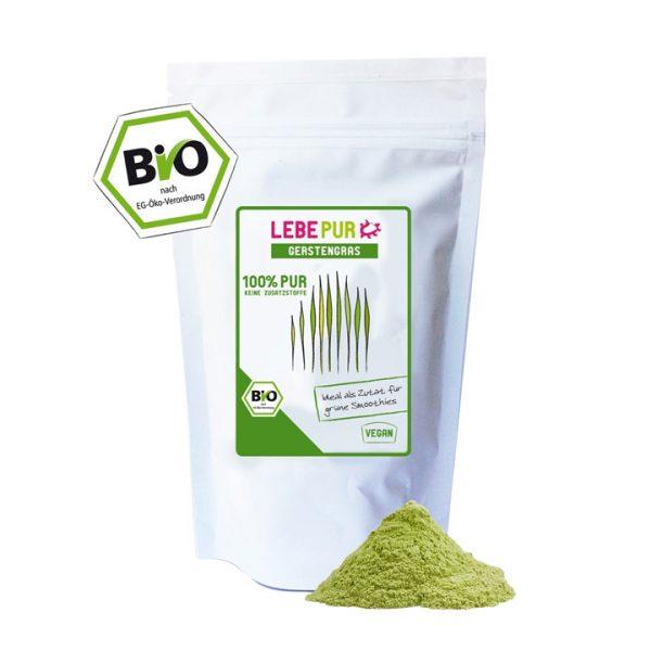 Bột cỏ lúa mạch hữu cơ Lepebur