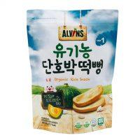 Bánh gạo ăn dặm hữu cơ vị bí ngô Alvins 30g