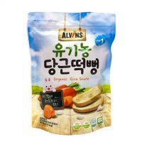 Bánh gạo ăn dặm hữu cơ vị cà rốt Alvins 30g